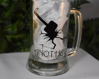 12oz Mug - Beer Mug - Glass Stein - Hammer Mug - Another Decal - Decorated Mug - Glass Mug - Beer Stein - 12oz Beer Mug - 9-011B