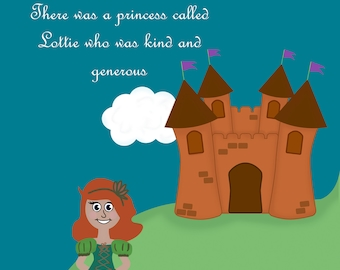 Personalised Fairy Tale Princess A4 Poster