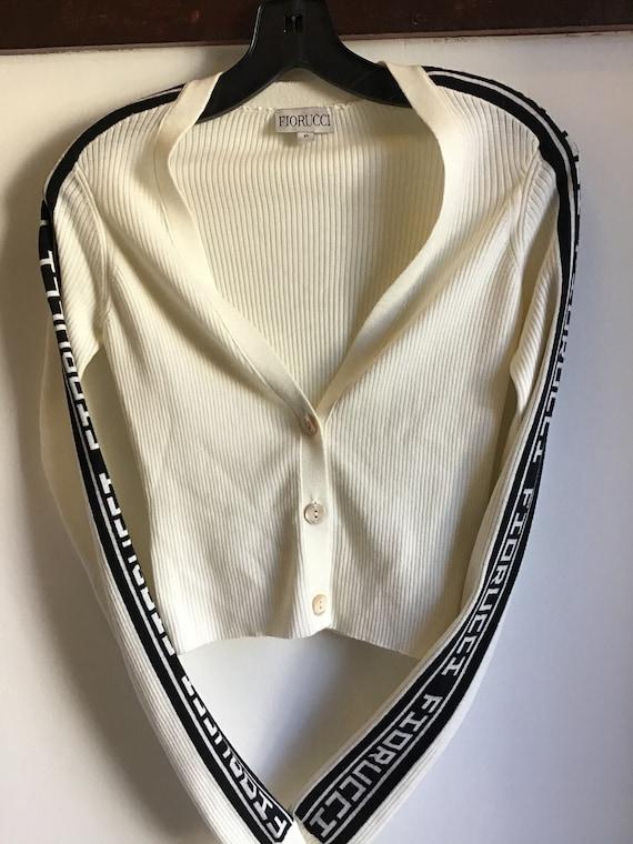 Fiorucci Cropped Cardigan Sweater