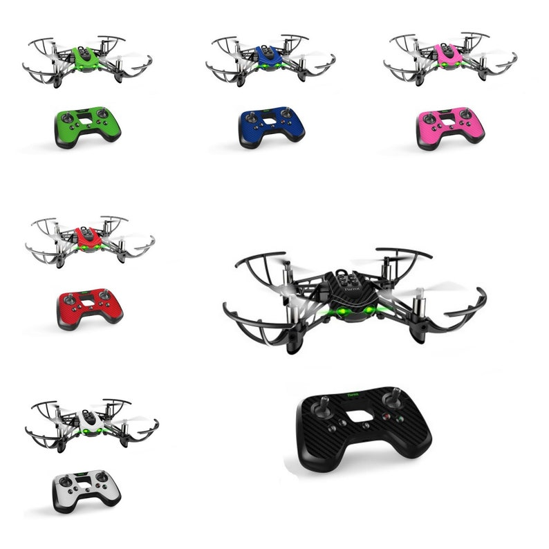 Parrot MAMBO Drone + Controller Fly Pad Remote CARBON Fiber 3D Skins Wrap  Decal Cover Case Sticker Protective Accessory - 9 Colors Available