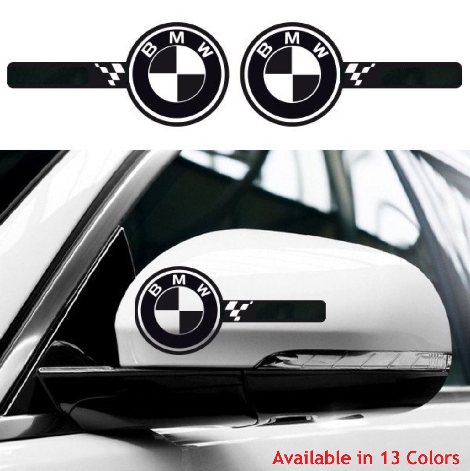 Bmw Z3 Wing Mirror Mount: 2x BMW Wing Mirror Side Body Decals Stickers Graphics