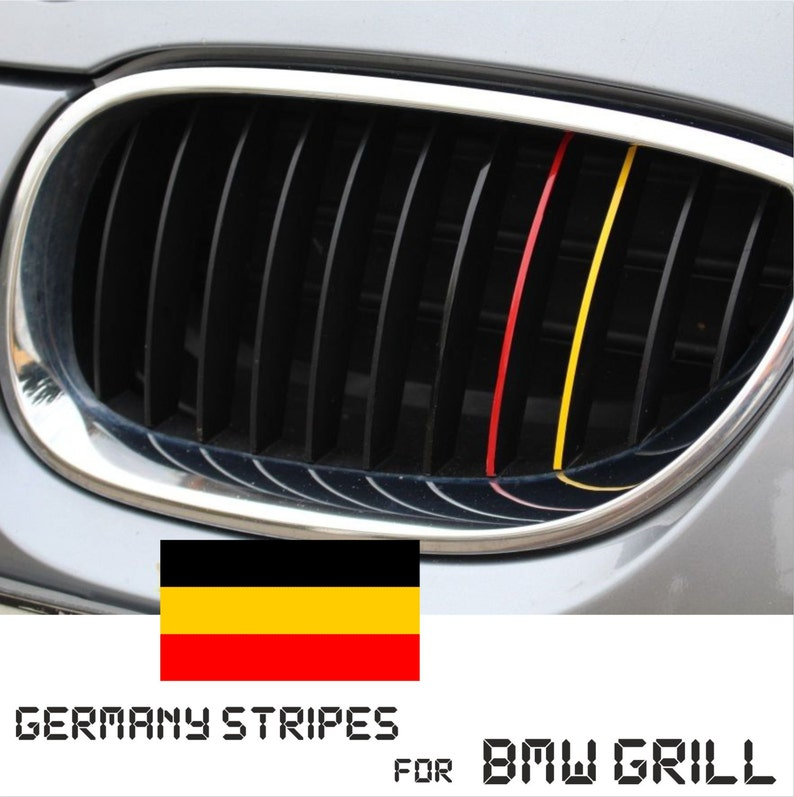 Bmw Kidney Grill Germany German Stripes M Sport Sticker Decal Etsy