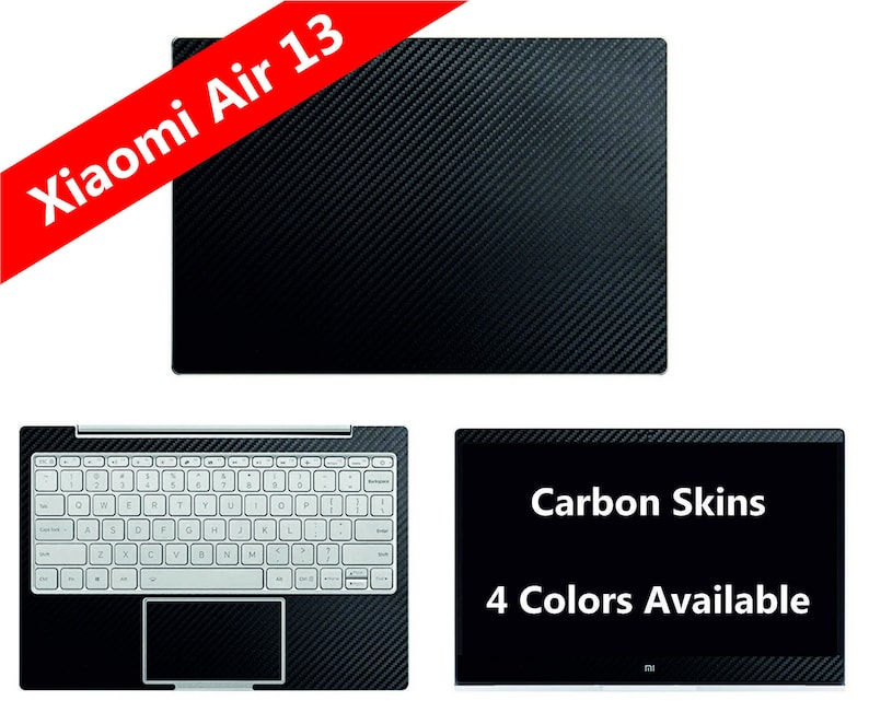 Xiaomi Air 13 Laptop Notebook 13 Inch 133 133 Carbon Fiber Skin Fullbody Protection Cover Wrap Decal Sticker Not A Hard Case