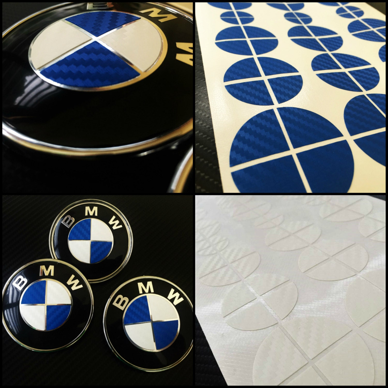 Fits All Models!! -- BMW Emblem Overlay Sticker Decal