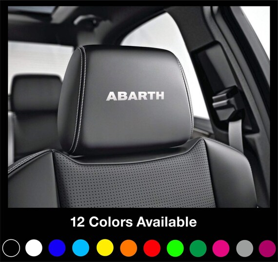 x6 fiat abarth kopfst tze autositz aufkleber aufkleber 500. Black Bedroom Furniture Sets. Home Design Ideas