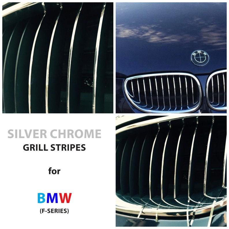 Bmw Kidney Grill Grille Stripes Silver Chrome M Sport Sticker Etsy