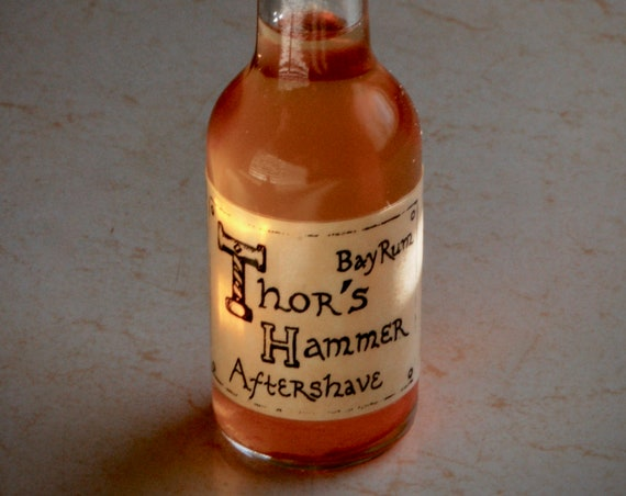 Viking Aftershave Cologne   Thor's Hammer Classic Bay Rum Spice   1.7 oz Bottle   Travel Size