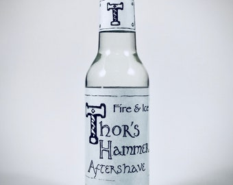 Fire and Ice Aftershave | Thor's Hammer Fire and Ice | Bergamot, Vetiver, and Spearmint | Viking Aftershave | Cool, Brisk, Refreshing