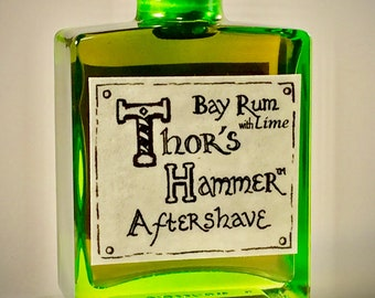 Lime Bay Rum Aftershave Limited Edition | Thor's Hammer Lime Bay Rum | Viking Aftershave | Handmade Bay Rum