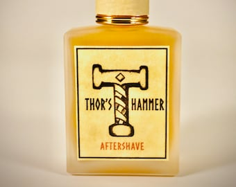 Bay Rum Aftershave Special Gift Edition | Thor's Hammer Classic Bay Rum with Frosted Glass Bottle + Gift Bag! Top Shelf Viking Bay Rum