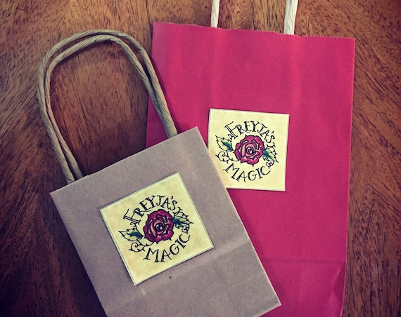 Gift Wrapping ~ Freyja's Magic Rose or Thor's Hammer Gift Bag with Tissue Paper