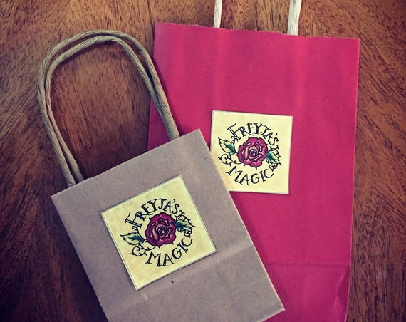 Gift Wrapping | Freyja's Magic Rose or Thor's Hammer Gift Bag with Tissue Paper