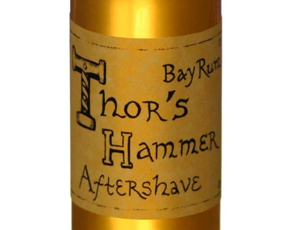 Bay Rum Aftershave | Thor's Hammer Classic Bay Rum Spice | Viking Aftershave | All Natural, For Sensitive Skin | Exotic, Manly & Sexy | 5 oz