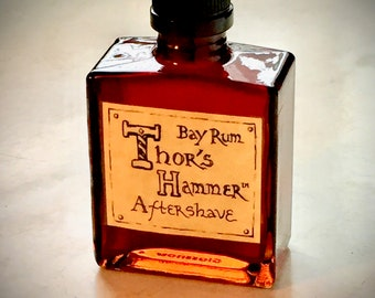 Bay Rum Aftershave Limited Edition | Thor's Hammer Classic Bay Rum Spice | Viking Aftershave | All Natural, Exotic & Sexy | 5 oz