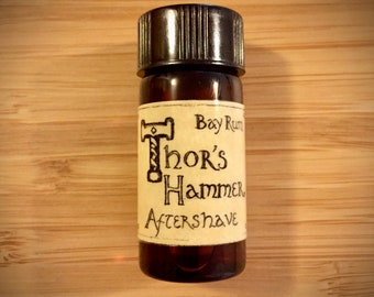 Bay Rum Aftershave Cologne | Thor's Hammer Classic Bay Rum Spice | Viking Aftershave | Sample Size, Trial Size
