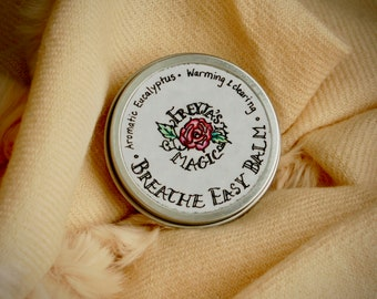 Breathe Easy Balm   Aromatic Eucalyptus Salve   Chest Rub, Menthol Vapor Rub, Cold & Flu Support   Viking Chest Rub