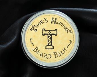 Mountain Pine Beard Balm | Thor's Hammer Lanolin Beard Balm + Conditioner | Mountain Man Beard, Norseman Beard, Viking Beard Care