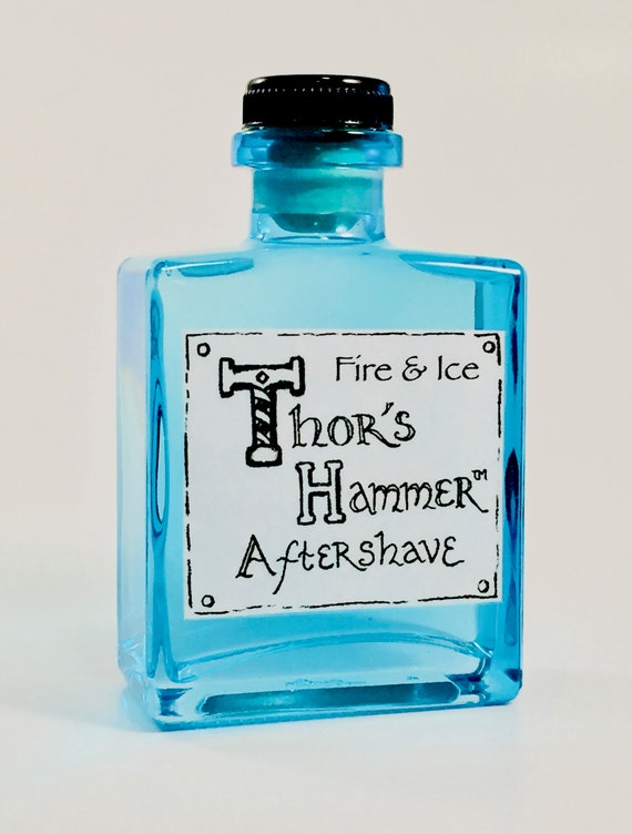 Fire & Ice Aftershave Limited Edition | Thor's Hammer Fire and Ice | Viking Aftershave | Bergamot, Vetiver, Spearmint | All Natural for Him