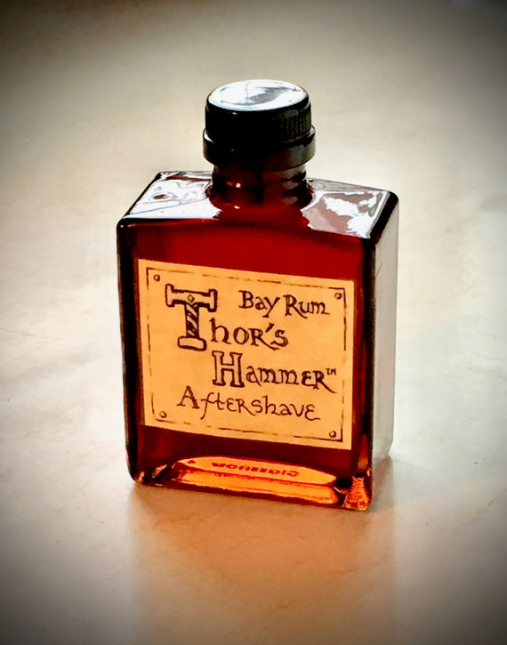 Bay Rum Aftershave Limited Edition | Thor's Hammer Classic Bay Rum Spice | Viking Aftershave | All Natural, Exotic & Sexy