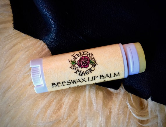 Beeswax Lip Balm | Nordic Gold Viking Lip Balm | Raw, Unfiltered Beeswax & Pure Lanolin | Unscented
