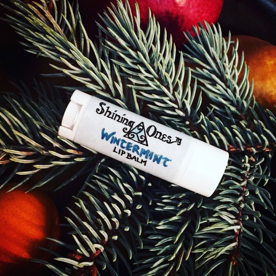 All Weather Wintermint Lip Balm ~ Lanolin, Zinc Oxide and Peppermint ~ SPF, Moisturize, Heal and Protect ~ Viking Lip Balm/Salve