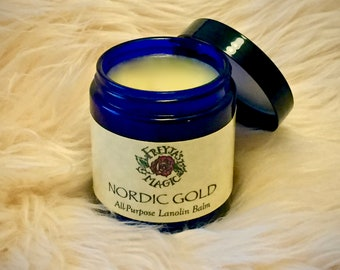 Lanolin Balm | Nordic Gold All Purpose Hand & Foot Balm | All Weather Skin Protection | Hard Working Hand Balm | Skin Balm for Him and Her