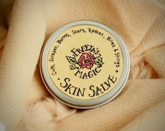 Goldenseal Skin Salve + Balm   Healing Herbal Skin Salve   Golden Salve   Viking All-purpose Skin Salve   Frankincense, Myrrh, Helichrysum