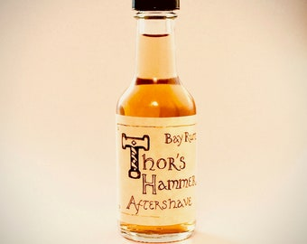 Bay Rum Aftershave | Viking Aftershave Cologne | Thor's Hammer Classic Bay Rum Spice | 1.7 oz Bottle | Travel Size
