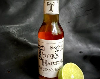 Lime Bay Rum Aftershave | Bay Rum with Lime | Viking Aftershave | Thor's Hammer Bay Rum Aftershave with Lime