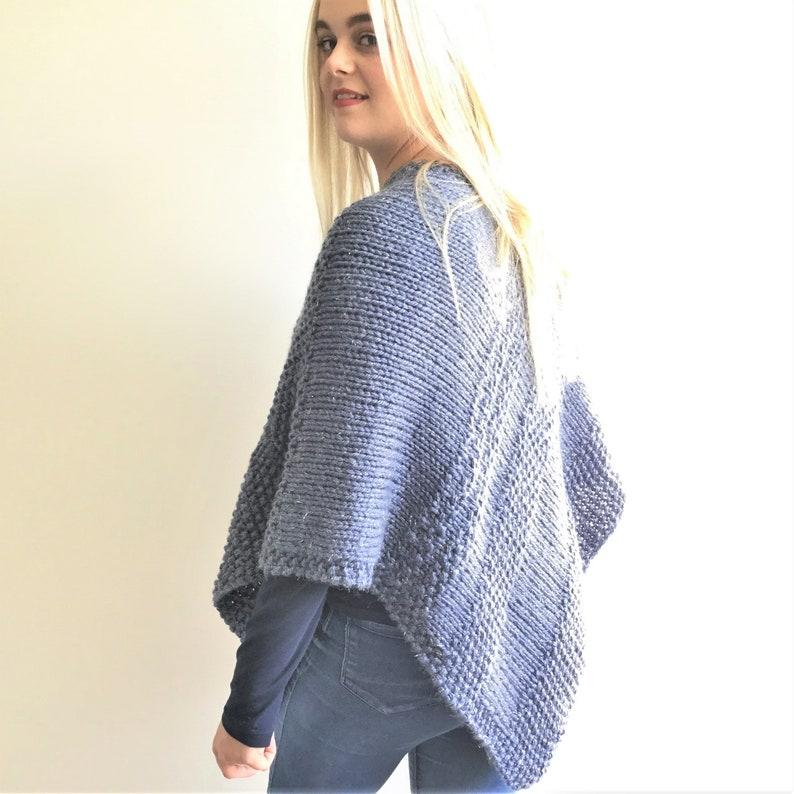 Knitting pattern Rain Shimmer Poncho PDF pattern adult   Etsy