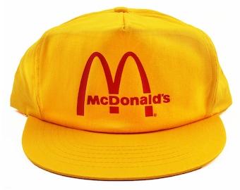 Vintage McDonalds Snapback Hat Cap NEW 826b72b9f51
