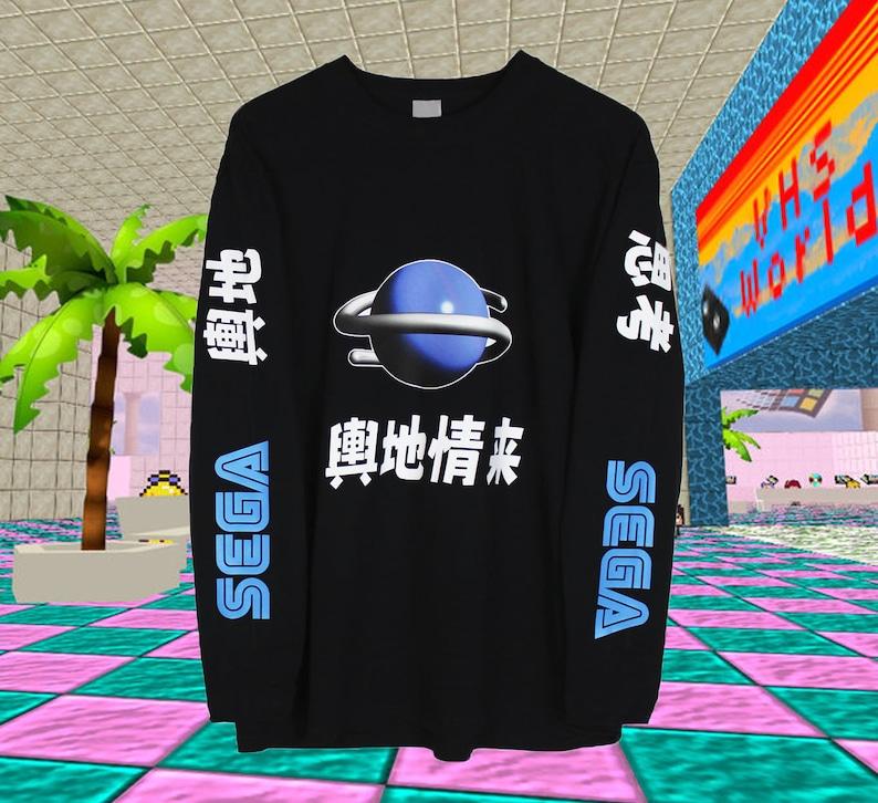 a1896e534698 Sega Saturn Japanese Long Sleeve T Shirt