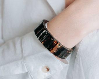 Natural Baltic Amber Bracelet Luxury Amber Beaded Bracelet Dark Amber Stretch Bracelet Large Baltic Amber Bracelet Genuine Amber Autumn