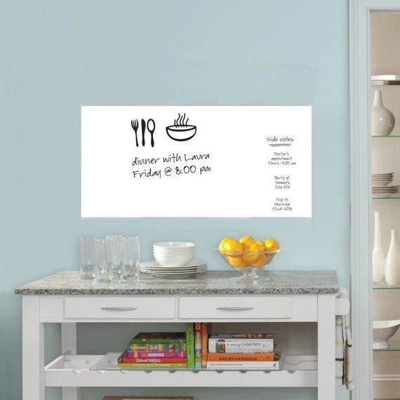 dry erase whiteboard wall decal huge 78 x 18 great for   etsy