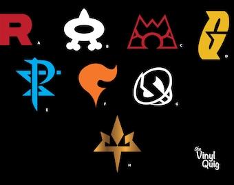 Pokemon Team Rocket Symbol R Jesse James Meowth Vinyl Sticker Decal CUSTOM