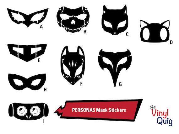 Persona 5 phantom thieves masks vinyl stickers inspired by