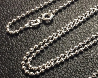 """36"""" Sterling Silver 2mm Ball Chain"""