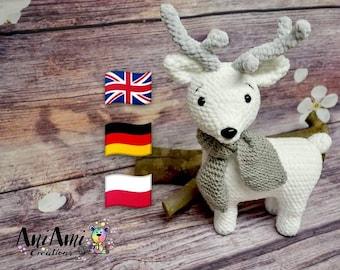 Crochet Reindeer Pattern/ medium size