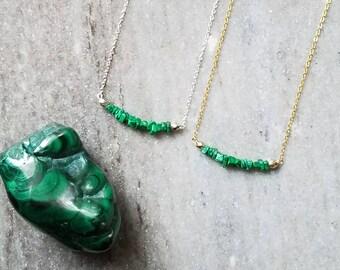 Malachite necklace etsy popular items for malachite necklace aloadofball Choice Image