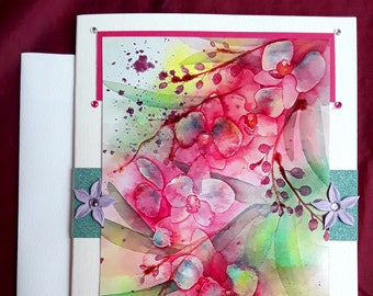 Wild Orchid blank card