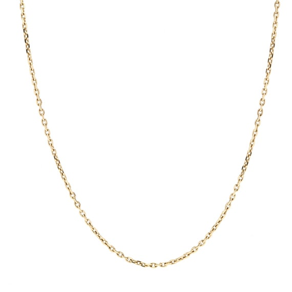 """18"""" 14k Yellow Gold Cable Chain"""