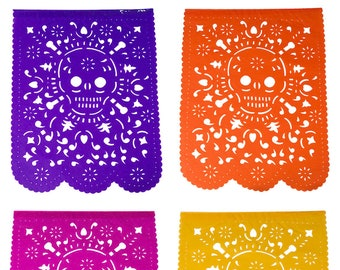 DAY of THE DEAD Decorations | For your Day of the Dead Halloween Party | Handmade Mexican Papel Picado Banners | 5 metre/16.4ft garlands