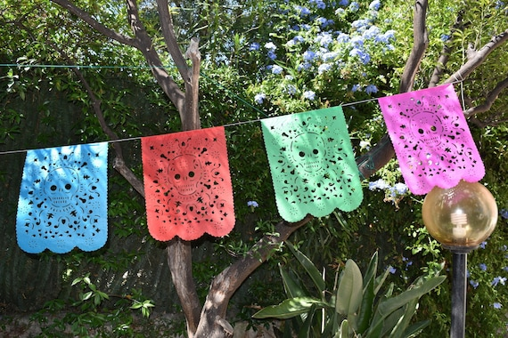 5m 16ft Banner with 15 Small Flags Sugar Skull Bunting Banner Halloween Party Bunting