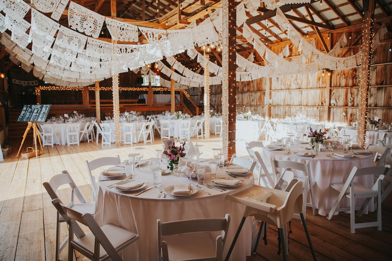 Personalised Wedding Decorations White Bunting Etsy