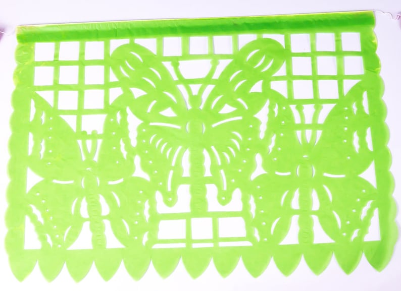 16feet5m Long with 10 Large PLASTIC Flags Colorful Handmade Mexican Fiesta Decorations Party Decor USA Mexican Papel Picado Banner