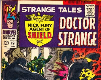 Strange Tales 151, KEY comic. Doctor, Dr, 1st Steranko Art, Nick Fury, Agents of Shield book, Silver Age. 1967 Marvel Comics in VF- (7.5)