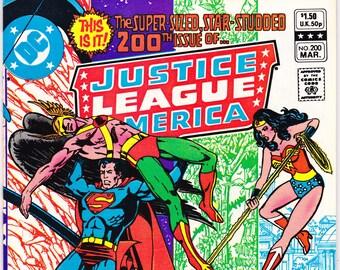 Justice League; Vol 1, 200 Comic,JLA Origin book. 1982 DC, NM (9.4)