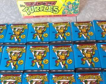 24 TMNT Trading Cards, Stickers, Teenage Mutant Ninja Turtles