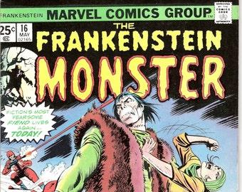 Frankenstein; Vol 1, 16 comics, Horror Gifts, books. 1975 Marvel, VFNM (9.0