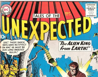 Tales of the Unexpected 37, Scifi Gift, UFO comic, Sci fi, Alien, Astronaut, Outer Space, Robot, Silver Age. 1959 DC Comics in VF (8.0)